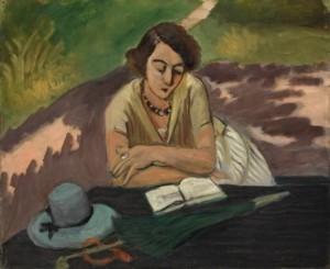 Henri-Matisse_Donna-che-legge-con-parasole-580x474