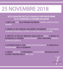 Campagna sensibilizzazione 25 novembre